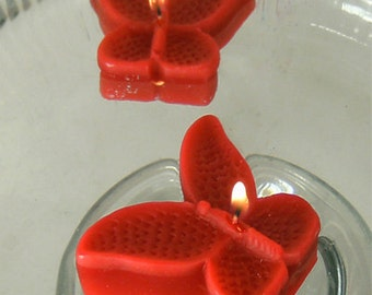 8 Red Butterfly Floating Candles wedding receptions table centerpiece and decor