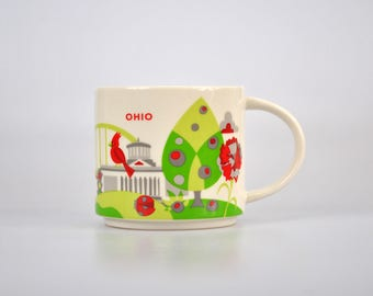 Starbucks Coffee Mug Tea Cup 2016 Ohio You Are Here Collection 14oz Collector Mug