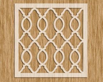 "Moroccan Pattern Tile Design Stencil - Sku PM0105 (8.5"" x 8.5"")"