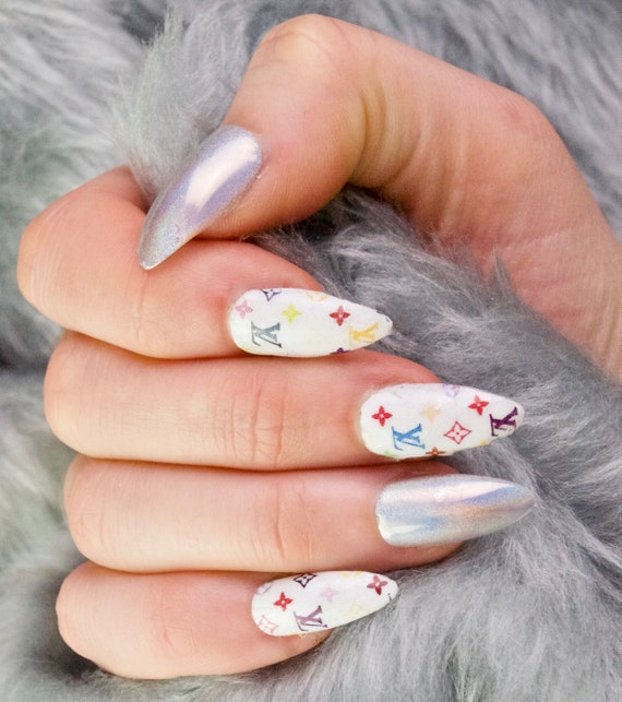Louis Vuitton Press on Nails Holographic press on nails