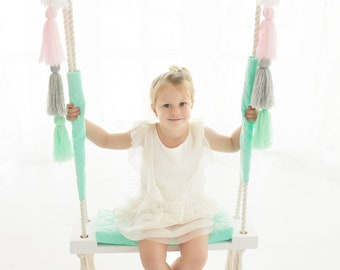 Swing for Kids, 100% hand made *** fast delivery***, Wooden Swing, Toddler Swing, Indoor Swing, Best Birthday Gift