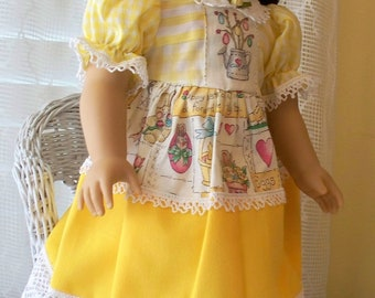 Handmade Doll Clothes Summer Sun  Dress Fits 18 inch dolls, Handmade Doll Dresses