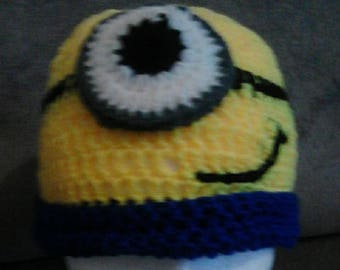 Etsy 13th Birthday Sale Minions Crochet Beanie Ideal Birthday Present Party Hat