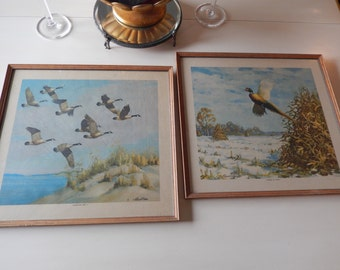 VINTAGE PHEASANT PRINT Wall Hangings by Richard E. Bishop