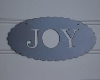 Metal Sign: Joy