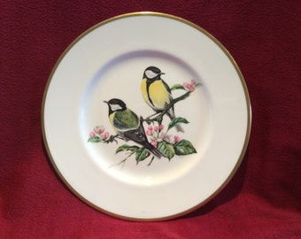 "Coalport British Birds Great Tit Bone China Plate 10 3/4"" diameter"
