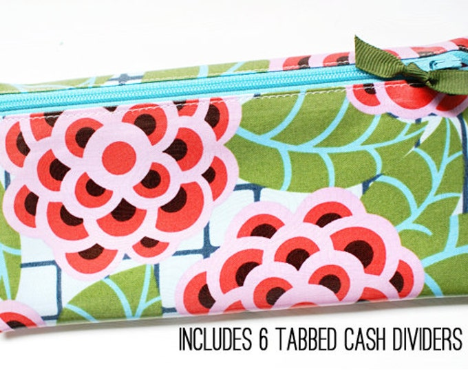 Floral cash budget envelope wallet