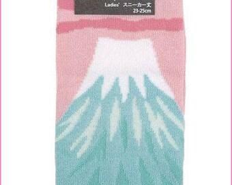 New!! tabi socks Mt. Fuji  for 2 fingers kutsushita for ladies Japan import China made kawaii