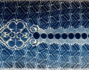 Blue Lace Skate Deck