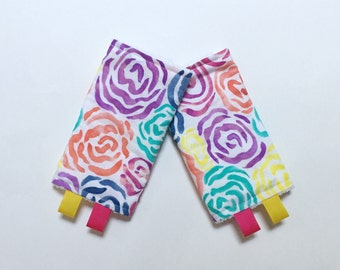 ORGANIC Drool Pads - Lillebaby Tula Beco Ergo - Painted roses