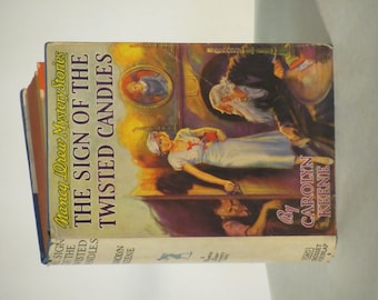 """Vintage 1932 - 1943 Nancy Drew Mystery- """"The Sign of the Twisted Candles"""""""