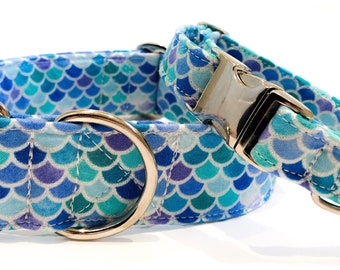 Mermaid Shimmer Handmade Dog Collar