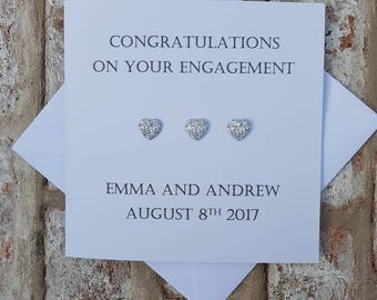 Personalised engagement card congratulations on your engagement card