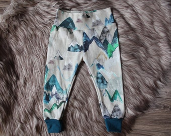 Baby leggings, mountain baby leggings, toddler leggings, boho prints