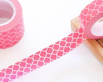Hot Pink Washi Tape 15mm/ Masking Tape/ Birthday Wedding Valentines Gift Packaging/ Back to School Supplies Tapes