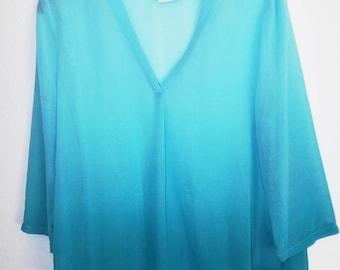Liz Claiborne  polyester chiffon shirt. Size PL  (#EV287)