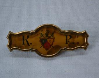 Vintage Mens Membership Club Metal Knights Jewelry Pin