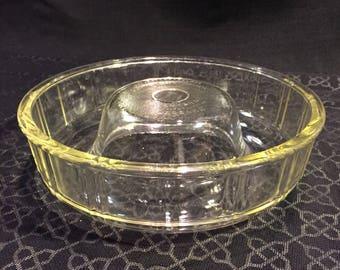 Vintage Queen Anne GLASBAKE Glass Bundt Cake/Jello Mold Dish