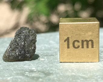 Moldavite [Translucent Green Tektite] - found in Czech Republic - High Quality Mineral/Crystal Specimen - RST834