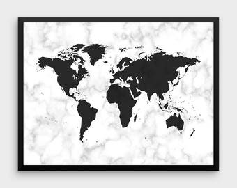 marble world map