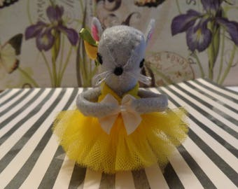 Gray Ballerina Mice Ornaments by Pepperland