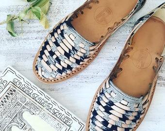 Santi-Handwoven Huarache Sandals
