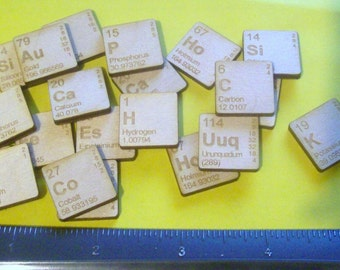 One Periodic Table Element Piece Laser Cut and Laser Engraved You Pick