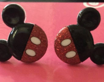 Minnie Mouse or Mickey Mouse Earrings****pierced