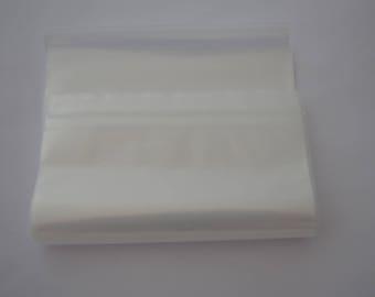 50 plastic bags size 15x20cm clear zip