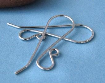 Handmade Interchangeable Earring Findings, Hot French Ear Wires, Sterling Silver