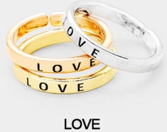 LOVE - inspired ring ( only one chose primary color)