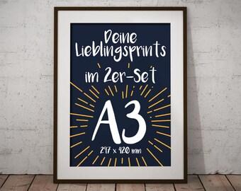 Set of 2 | A3-Prints | Favourite Motifs | Artprints | Poster