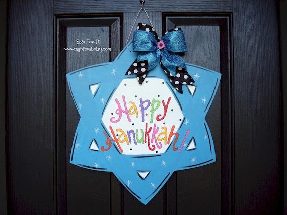 Star Of David Hanukkah Door Sign by Etsy