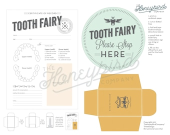 Tooth Fairy Certificate - instant download