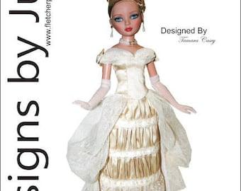 "PDF Victorian Stroll Pattern for 16"" Ellowyne Wilde Dolls Tonner"