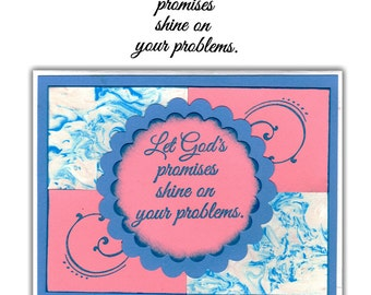 Let God's promises shine on your problems - UNMOUNTED rubber stamp, Christian quote, encouragement, comfort, Sweet Grass Stamps #23