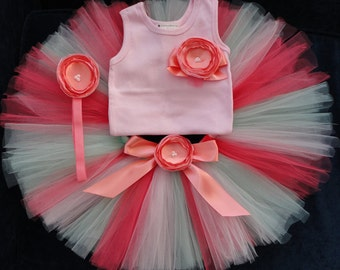 Pink Tutu Dress Outfit | Baby Girls Birthday Dress
