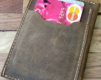 Front Pocket Wallet, The Inside Out Men's Leather Wallet, Minimalist Wallets, Groomsmen Gifts, Leather Wallets, Can be Personalized