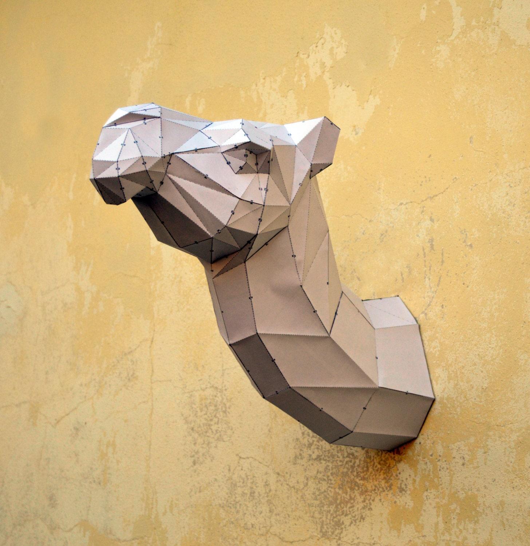 Make Your Own Camel Sculpture. Camel Papercraft Handmade