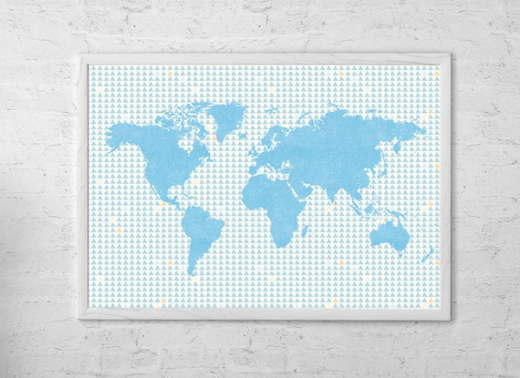 Map of the world map art print poster wall hanging gumiabroncs Image collections