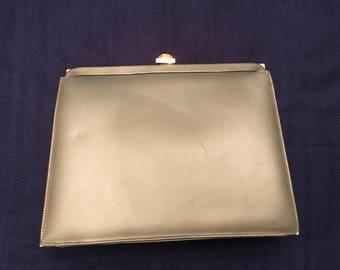 Andrew Geller Metallic Green Evening Bag