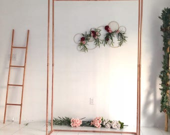 Wedding arch decor etsy double copper pipe backdrop doubleframe copper arch wedding backdrop wedding arch decor floral junglespirit Choice Image