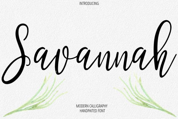 digital font calligraphy handwritten script wedding watercolor