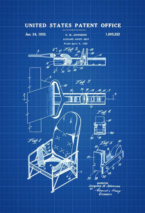 Airplane seat belt patent airplane blueprint vintage like this item malvernweather Image collections
