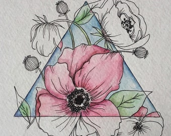 Geometric Flower Print