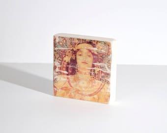 Classical Art 003, Art Blocks, Wood Printing, Wood Block Art, Small Art, Art Print, Vintage Art