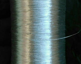 shiny plain silver wire coil