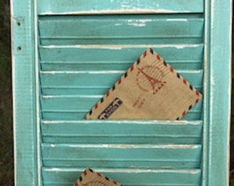 Shabby Chic Vintage Wood Shutter