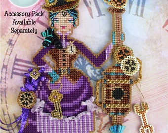 Brooke's Books Sophronia The Steampunk Witchie-poo Ornament INSTANT DOWNLOAD Cross Stitch Chart