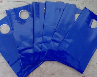 Party Favor Bag.  Gift Bags. Bright  Blue Party Favor Gift Bags